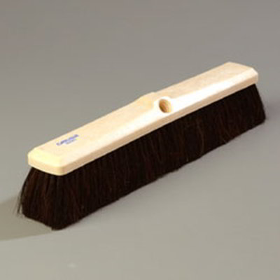 "Carlisle 4056100 18"" Floor Sweep Head - Foam Block, Horsehair/Poly Bristles"