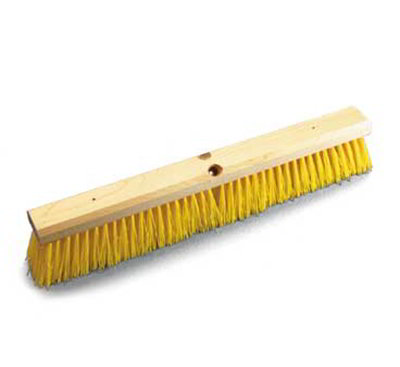 "Carlisle 36761824 18"" Floor Sweep Head - Hardwood Block, Poly Bristles, Orange"