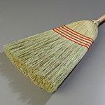 "Carlisle 4063400 12"" Janitor Corn Broom - 26# Fill, 56"" Wood Handle"