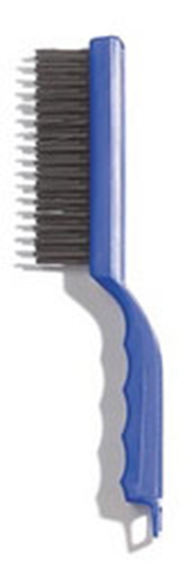 "Carlisle 4067000 11-1/2"" Scratch Brush - Carbon Steel/Plastic"