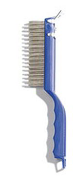 "Carlisle 4067200 11-1/2"" Scratch Brush - End-Scraper, Stainless Steel/Plastic"