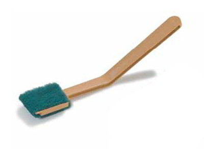 "Carlisle 4072825 11-1/2"" Meat Slicer Cleaning Brush - Angled, Tan"