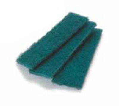 "Carlisle 4072908 Meat Slicer Scrub Pad - 4-1/2x1-5/8"" Single Use, Synthetic, Green"