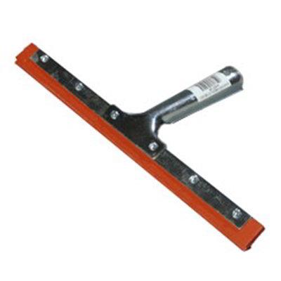 "Carlisle 4102700 12"" Hand Held Window Squeegee - Double Blade, Zinc Plated Handle"