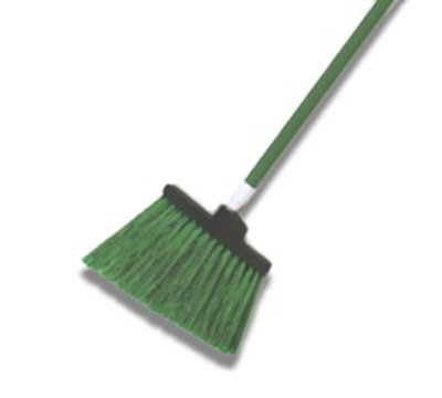 "Carlisle 4108301 48"" Duo-Sweep Angle Broom - Flex-Tip, Fiberglass/Polypropylene, Brown"