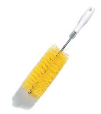 Carlisle 4119701 15-in Straight Fitting Brush, Brown Bristles, 3-in Diam., Plastic