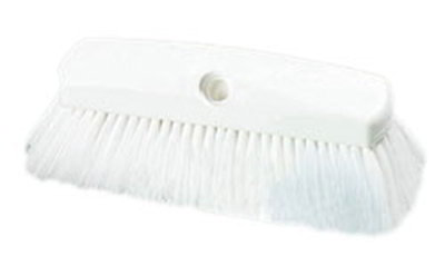 "Carlisle 4127802 10"" Flo-Thru Brush - Plastic/Nylex, White"