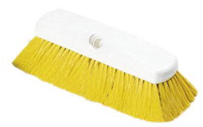 """Carlisle 4127804 10"""" Flo-Thru Brush - Plastic/Nylex, Yellow"""