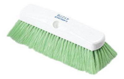 "Carlisle 4127875 10"" Flo-Thru Brush - Plastic/Nylex, Green"