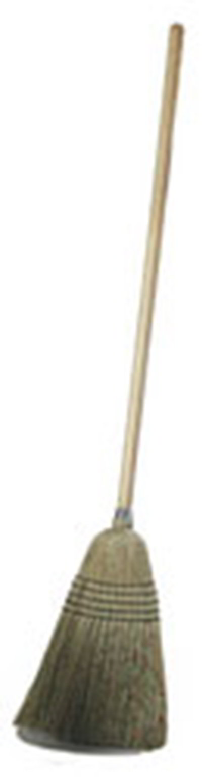 "Carlisle 4135067 12"" Janitor Corn Broom - 29# Fill, 56"" Wood Handle"