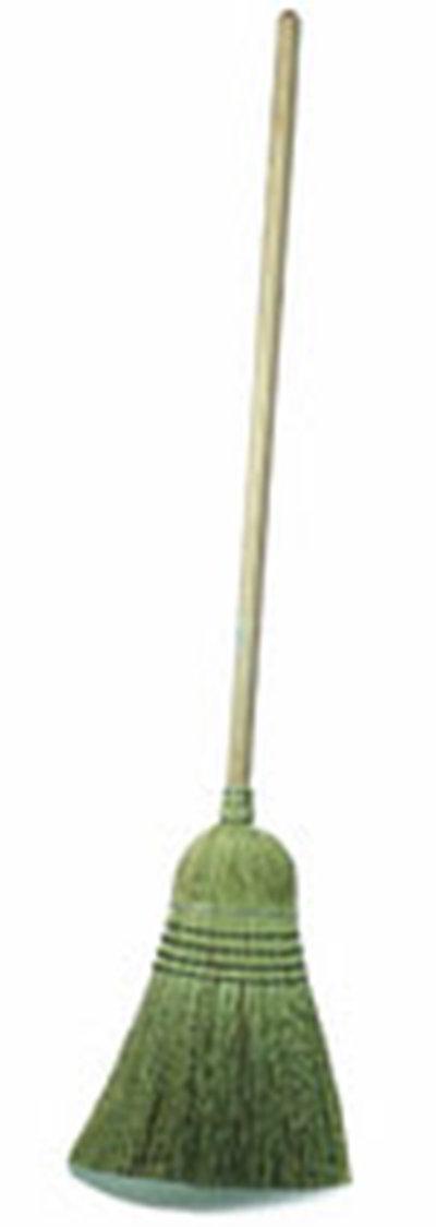 "Carlisle 4135467 12"" Warehouse Corn Broom - 30# Fill, 56"" Wood Handle"