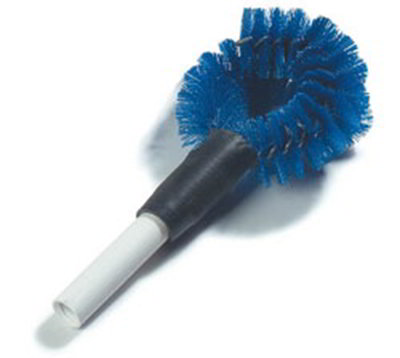"Carlisle 4139014 12"" Clean-In-Place Brush - Circular Shape, Galvanized Wire, Poly, Blue"