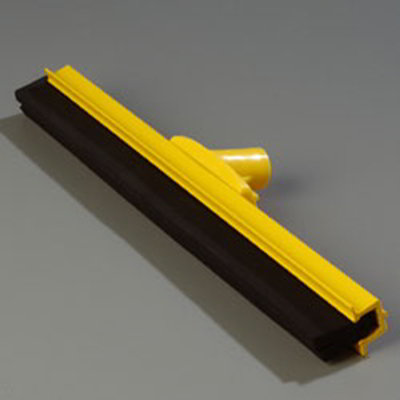 "Carlisle 4156704 18"" Hygienic Floor Squeegee Head - Double Foam, Plastic Frame, Yellow"