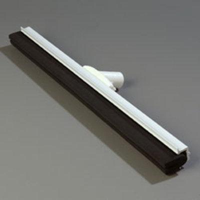 "Carlisle 4156802 24"" Hygienic Floor Squeegee Head - Double Foam, Plastic Frame, White"