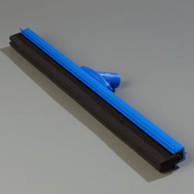 "Carlisle 4156814 24"" Floor Squeegee Head w/ Double Foam Rubber Blade, Blue"
