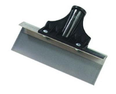 """Carlisle 4161900 8"""" Floor Scraper - Threaded Handle, Stainless Steel"""
