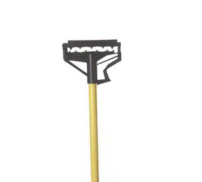 Carlisle 4166425 60-in Quick-Release Mop Handle, Tan Fiberglass