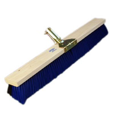 "Carlisle 4187100 24"" Sweep Floor - Wood Block, Fine/Medium Synthetic Bristles"