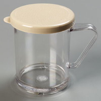 Carlisle 427006 9-oz Shaker Dredge - 7-Style Handle, Beige/Clear