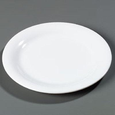"Carlisle 4300202 10-1/2"" Durus Dinner Plate - Narrow Rim, Melamine, White"