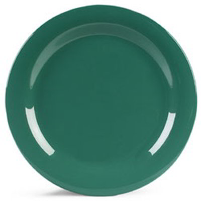 "Carlisle 4300209 10-1/2"" Durus Dinner Plate - Narrow Rim, Melamine, Meadow Green"