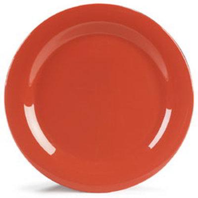 """Carlisle 4300252 10-1/2"""" Durus Dinner Plate - Narrow Rim, Melamine, Sunset Orange"""