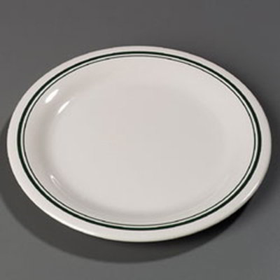 "Carlisle 43003905 10-1/2"" Durus Dinner Plate - Narrow Rim, Melamine, Orleans on Bone"