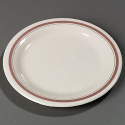 """Carlisle 43003906 10-1/2"""" Durus Dinner Plate - Narrow Rim, Melamine, Parisian on Bone"""