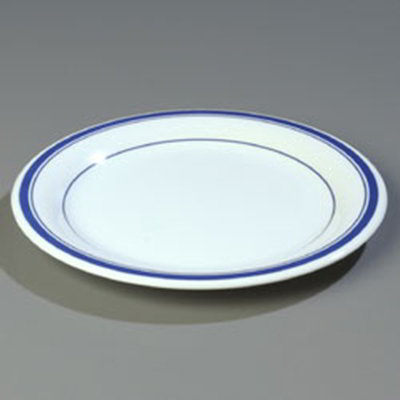 "Carlisle 43003912 10-1/2"" Durus Dinner Plate - Narrow Rim, Melamine, London on Bone"