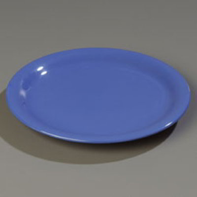 "Carlisle 4300414 9"" Durus Dinner Plate - Narrow Rim, Melamine, Ocean Blue"