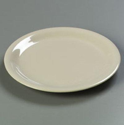"Carlisle 4300477 9"" Durus Dinner Plate - Narrow Rim, Melamine, Venetian Tan"