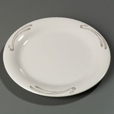 "Carlisle 43005909 9"" Durus Dinner Plate - Narrow Rim"