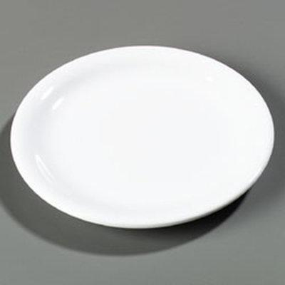 """Carlisle 4300602 7-1/4"""" Durus Salad Plate - Narrow Rim, Melamine, White"""