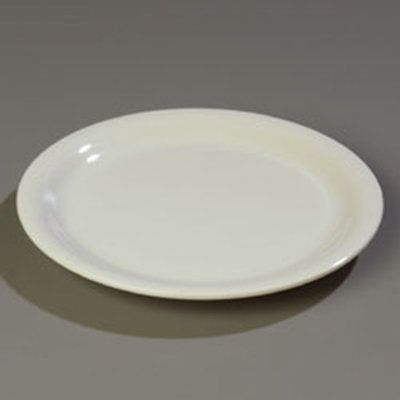 """Carlisle 4300642 7-1/4"""" Durus Salad Plate - Narrow Rim, Melamine, Bone"""