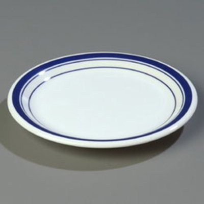 "Carlisle 43009912 6-1/2"" Durus Pie Plate - Narrow Rim, Melamine, London on White"