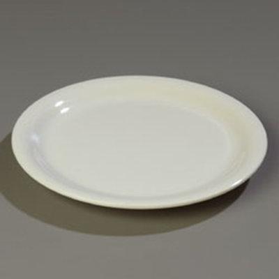 "Carlisle 4301042 10-1/2"" Durus Dinner Plate - Wide Rim, Melamine, Bone"