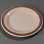 "Carlisle 43011908 10-1/2"" Durus Dinner Plate - Wide Rim, Melamine, Sierra Sand on Sand"