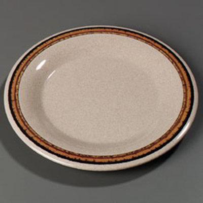 """Carlisle 43019908 6-1/2"""" Durus Pie Plate - Wide Rim, Melamine, Sierra Sand on Sand"""