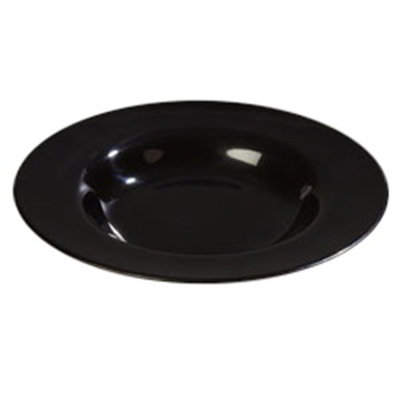 Carlisle 4303003 20-oz Durus Chef Salad/Pasta Bowl - Melamine, Black