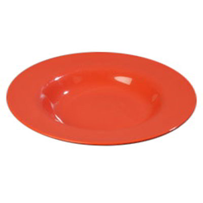 Carlisle 4303052 20-oz Durus Chef Salad/Pasta Bowl - Melamine, Sunset Orange