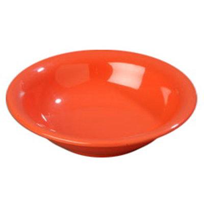 Carlisle 4303252 16-oz Durus Rim Soup Bowl - Melamine, Sunset Orange