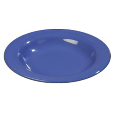 Carlisle 4303414 13-oz Durus Pasta/Soup/Salad Bowl - Melamine, Ocean Blue