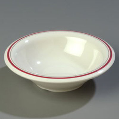 Carlisle 43037903 12-oz Durus Rim Soup Bowl - Melamine, Morocco on Bone