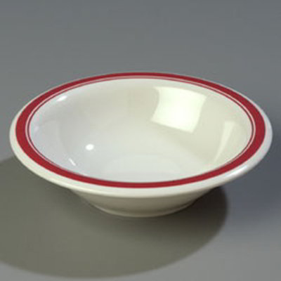 Carlisle 43037907 12-oz Durus Rim Soup Bowl - Melamine, Roma on Bone