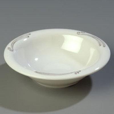 Carlisle 43037909 12-oz Durus Rim Soup Bowl - Melamine, Versailles on Bone