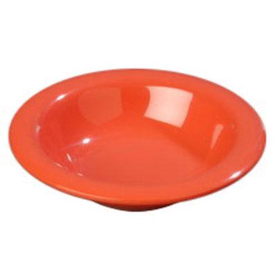 Carlisle 4304052 6-oz Durus Rim Soup Bowl - Melamine, Sunset Orange