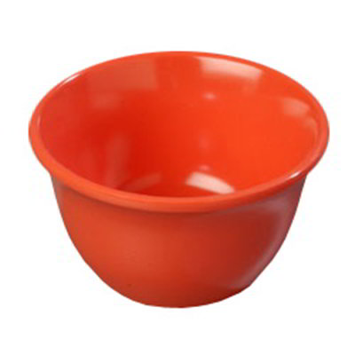 Carlisle 4305052 7-oz Durus Bouillon Cup - Melamine, Sunset Orange