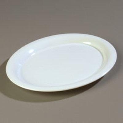 """Carlisle 3308002 Sierrus Oval Platter - 13-1/2x10-1/2"""" Melamine, White"""