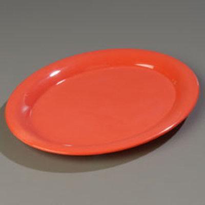 """Carlisle 4308052 Durus Oval Platter - 13-1/2x10-1/2"""" Melamine, Sunset Orange"""