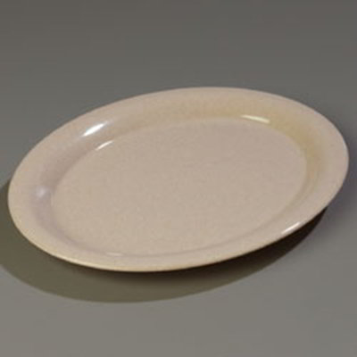 "Carlisle 4308071 Durus Oval Platter - 13-1/2x10-1/2"" Melamine, Sand"